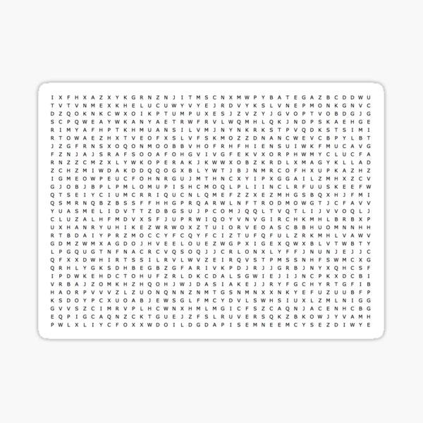 Blank Word Search Sticker