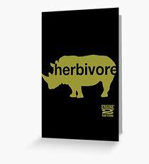 Herbivore Green Greeting Card