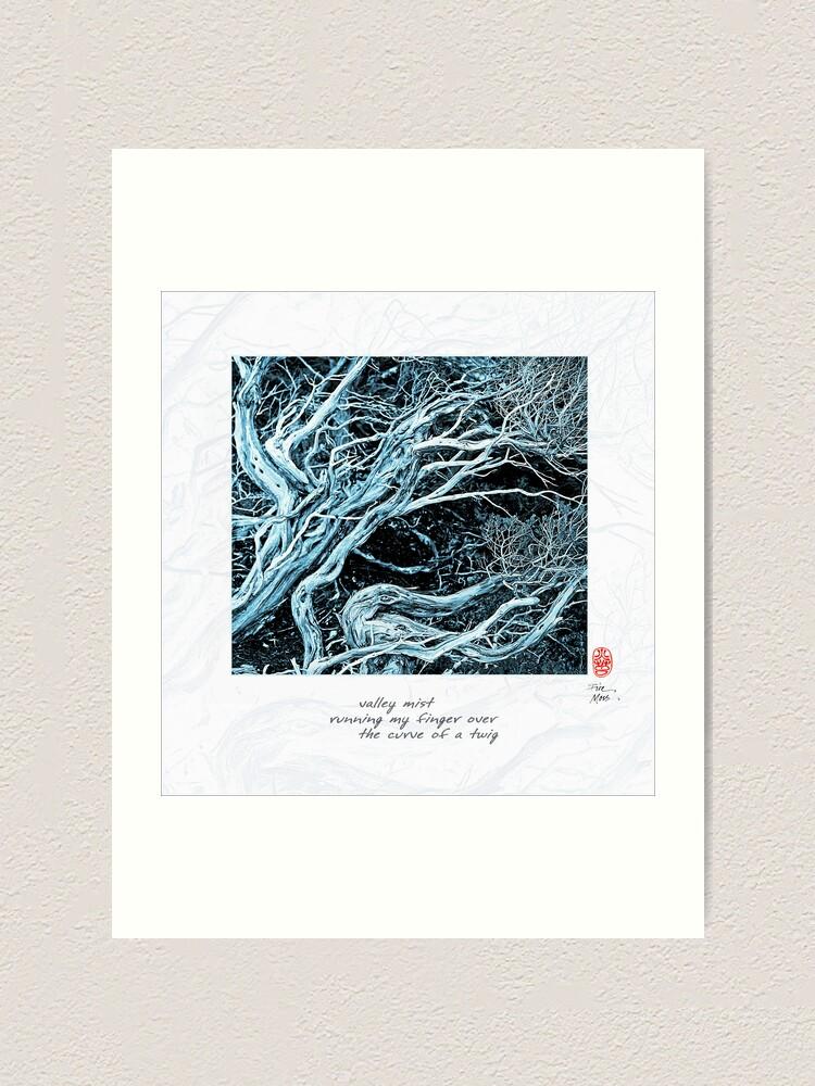 Alternate view of Valley Mist Art Print