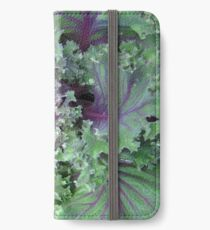 Fresh Red Kale From the Garden iPhone Wallet/Case/Skin