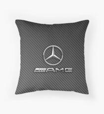 mercedes amg logo carbon Throw Pillow