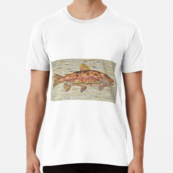 Large Rainbow Trout Collage Art by C.E. White Premium T-Shirt