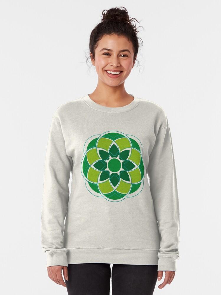 Alternate view of Flower#01 Pullover Sweatshirt