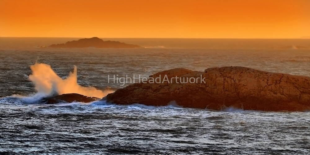 Sunset in the Bay by HighHeadArtwork