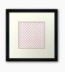 heart matrix Framed Print