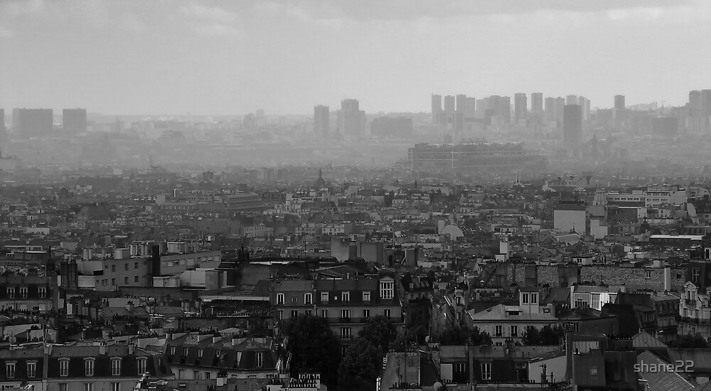 Cityscape Black and White by shane22
