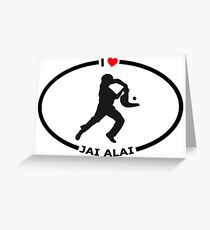 I Love Jai Alai with Heart Greeting Card