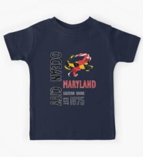 Ocean City Maryland Crab Kids T-Shirt