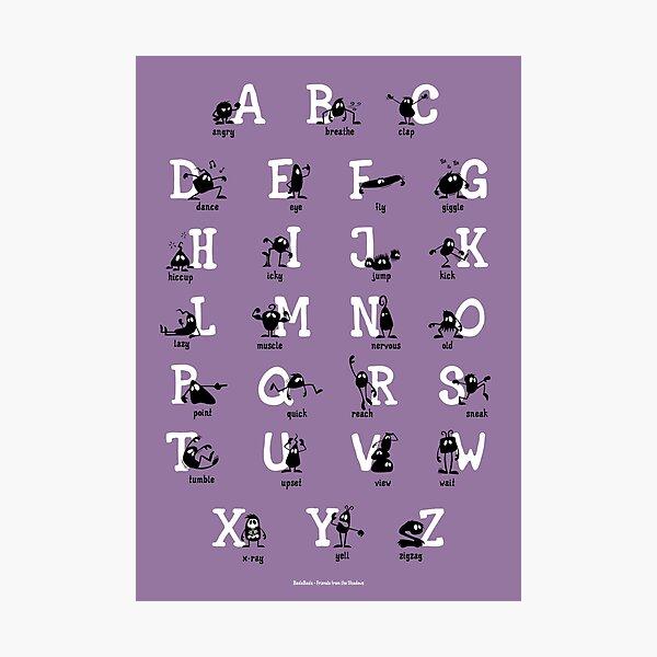 Alphabet - Purple Photographic Print