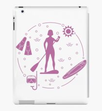 Sports and leisure on the water. Stand Up Paddling iPad Case/Skin