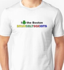 I Love Boston Sports (green shamrock) T-Shirt