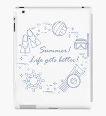 Steering wheel, gear for diving, swimming, ball. iPad Case/Skin