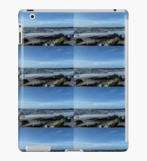 Rocks Emerging from the Sea at Low Tide..... Lyme Regis  Dorset UK iPad Case/Skin