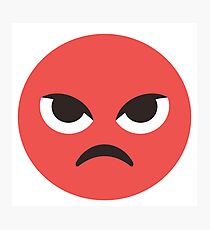 Red Angry Face Photographic Print
