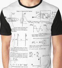 Physics, Magnets, Electromagnetism, magnetic, electric, current, tesla, weber, electromagnet, flux, pole, dipole Graphic T-Shirt