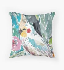 PARASOL THE COCKATIEL Throw Pillow