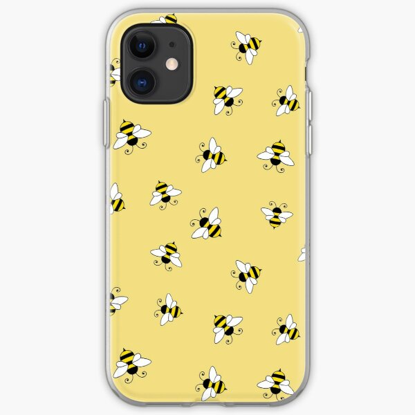 Bee seamless pattern iPhone Soft Case