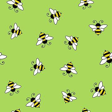 Bee seamless pattern by florintenica