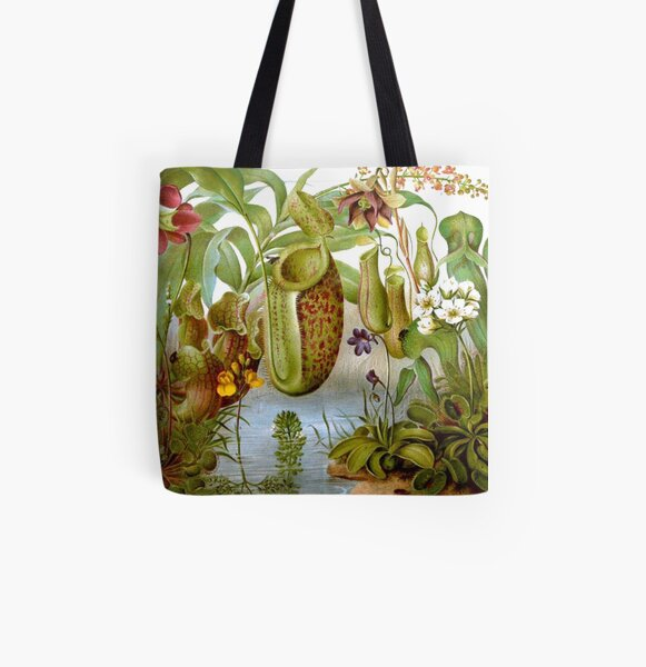 Carnivorous Plants All Over Print Tote Bag