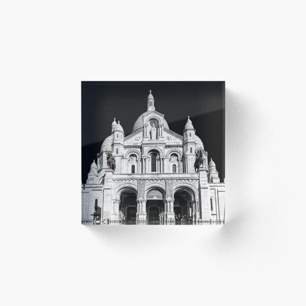 Sacre Coeur Montmartre France Acrylic Block