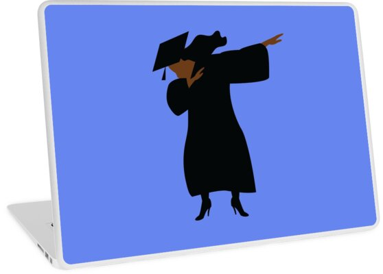 bab715bed60 HBCU Black Woman Dabbing Graduation Cap and Gown