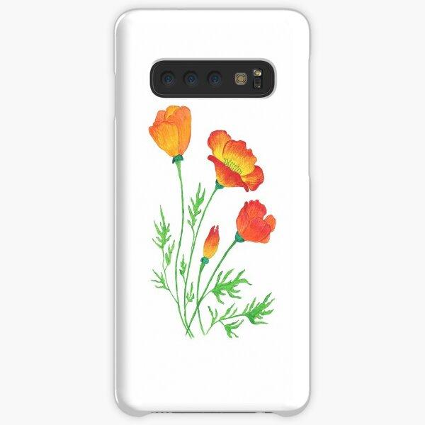 Orange Red Poppies  Samsung Galaxy Snap Case