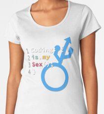 Coding is my Sex - Blue / Black Women's Premium T-Shirt