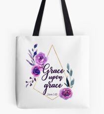 Grace Upon Grace | Bible Verse John 1:16 Tote Bag