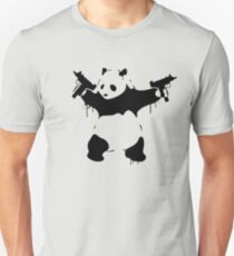 Banksy Panda With Guns Unisex T-Shirt