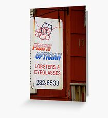 Fish'n Optician Greeting Card