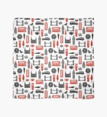 London Block Print - Black and Red by Andrea Lauren Scarf