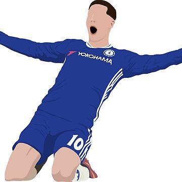 Eden Hazard - Belgium / Chelsea FC Abstract Design by DanDobsonDesign