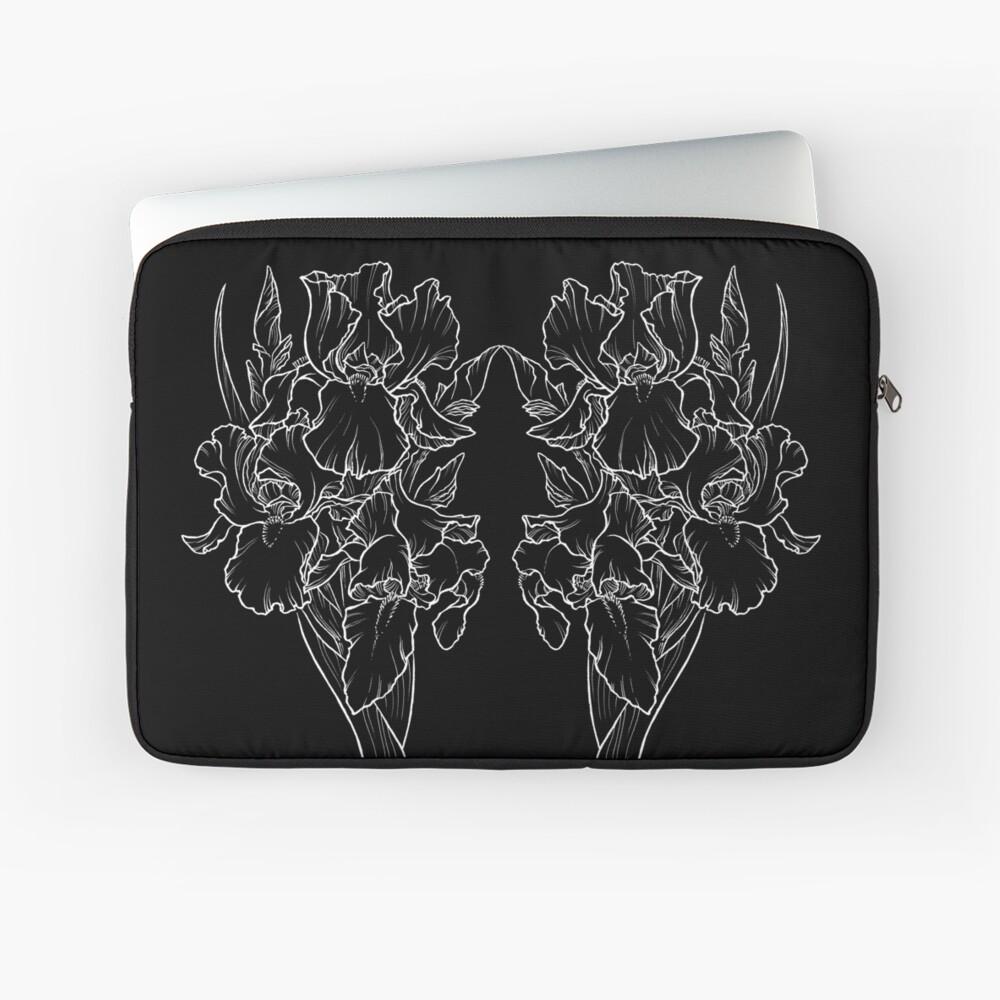 Irises - White Line Laptop Sleeve