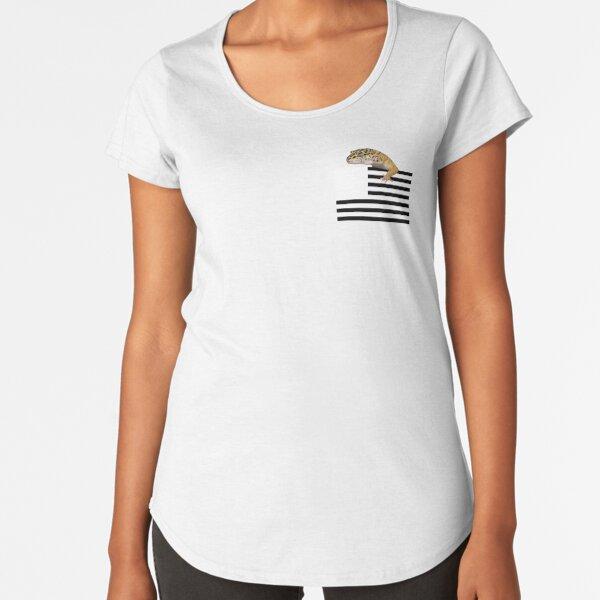 Pocket Leopard Gecko American Flag Shirt Premium Scoop T-Shirt
