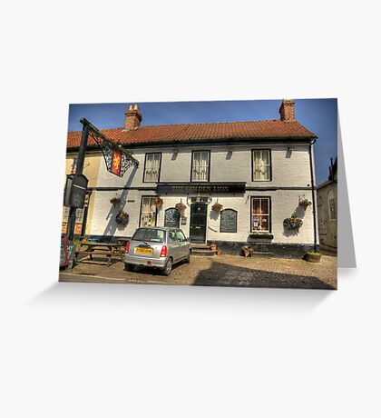 The Golden Lion - Helperby North Yorkshire Greeting Card
