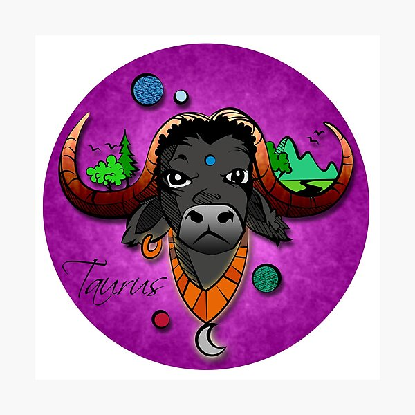 Taurian Enegry- Taurus Seal Graphic Photographic Print