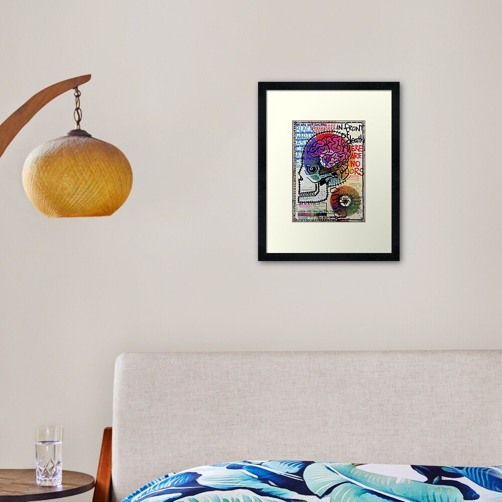 In Front Of Death There Are No Colors Framed Art Print