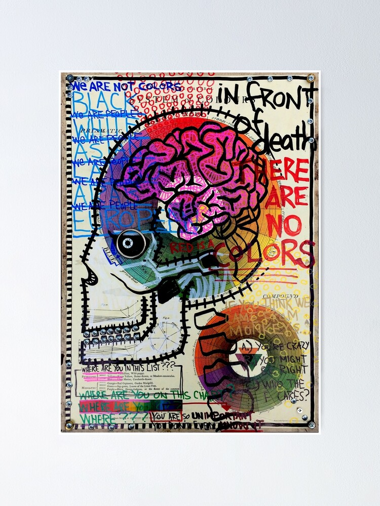 Alternate view of In Front Of Death There Are No Colors Poster