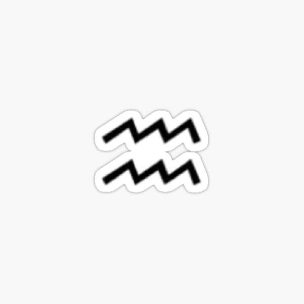 Aquarius sticker Sticker