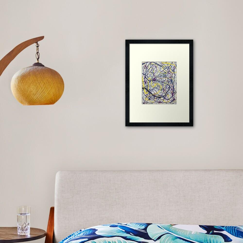 Mijumi Pollock 2 Framed Art Print