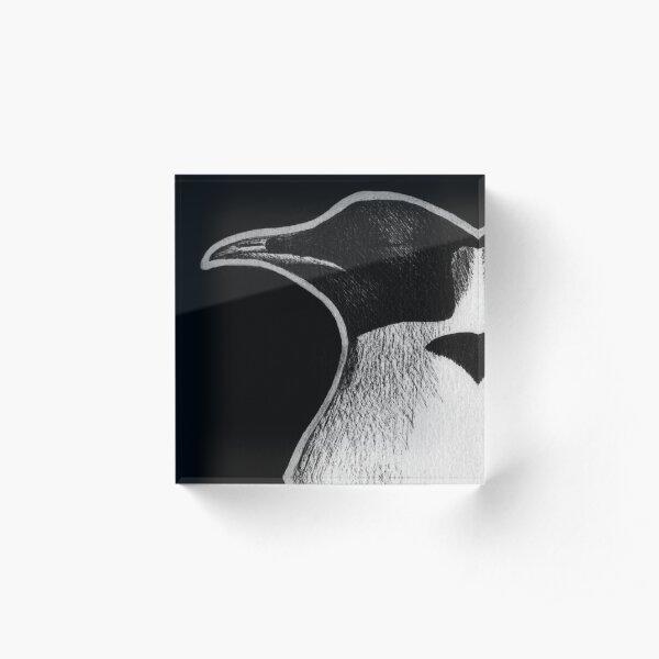 Leucism: Emperor Penguin Acrylic Block