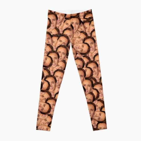 Nicolas Cage texture (for all your cage needs) Leggings