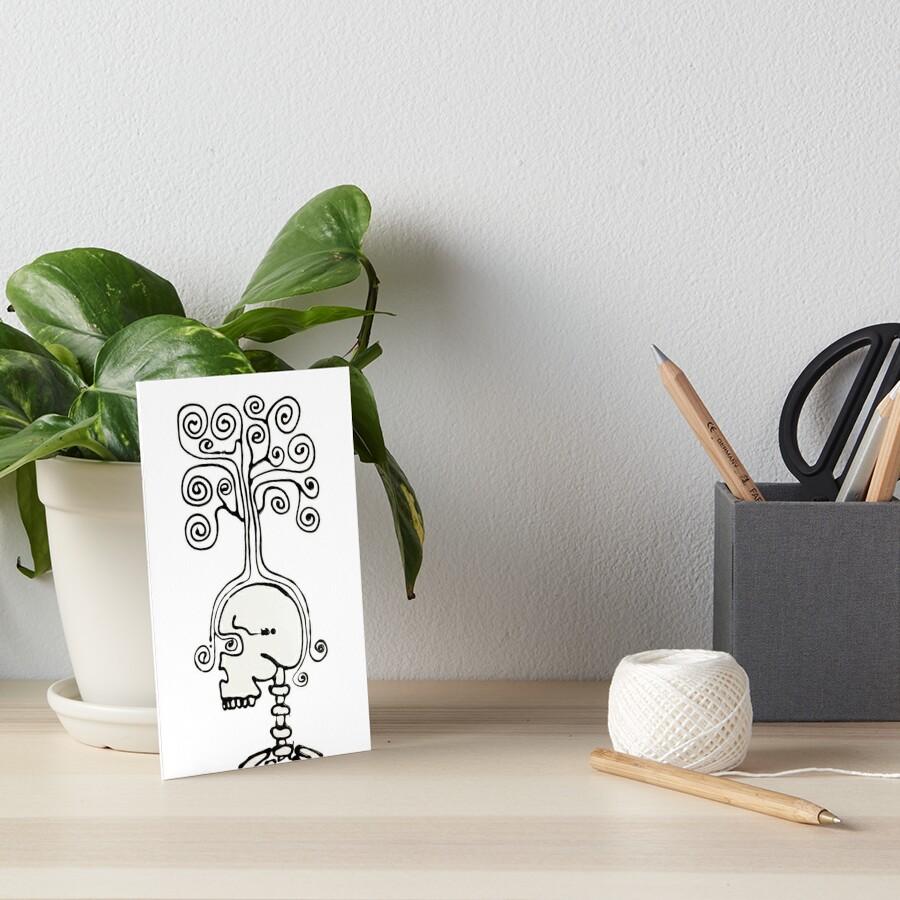 Thinking Tree Art Board Print