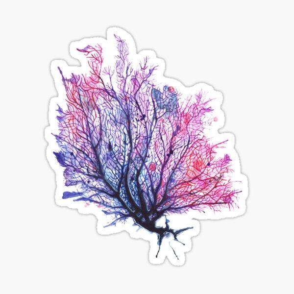 Fan Coral - Purple Sticker