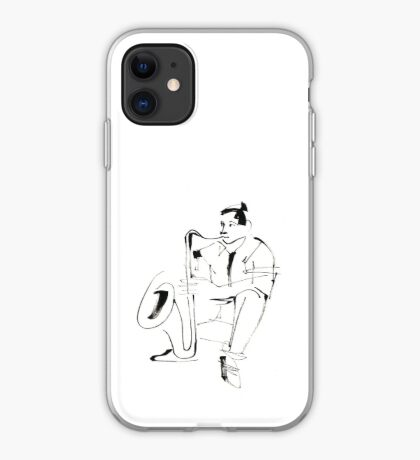 Saxophone Player Musician iPhone Case