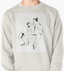 Saxophone Player Musician Pullover Sweatshirt