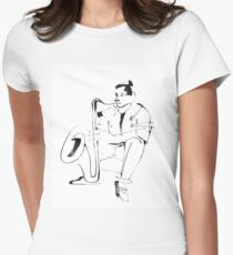 Saxophone Player Musician Fitted T-Shirt