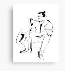 Saxophone Player Musician Canvas Print