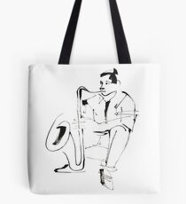 Saxophone Player Musician Tote Bag