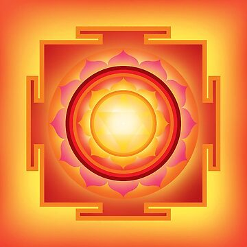 Brilliant Sun Yantra with blazing Fire by josephbax